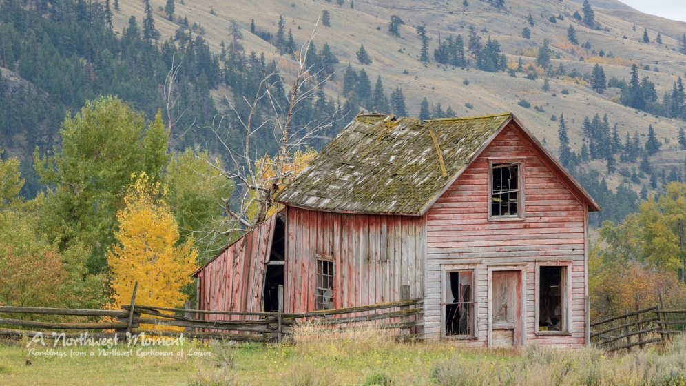 An outbuilding at the Nicola Valley Ranch. It probably has some stories to tell.